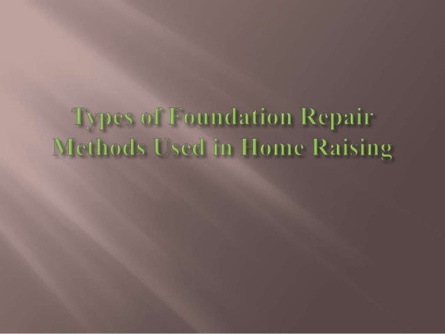 Foundation RepairFoundation repair is cracks in exterior walls or foundationwalls or interior walls or ceilings of home, o...