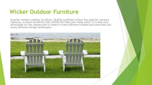5. Wicker Outdoor Furniture ...