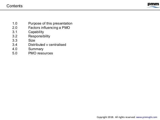 Types of project management office (PMO) Slide 2