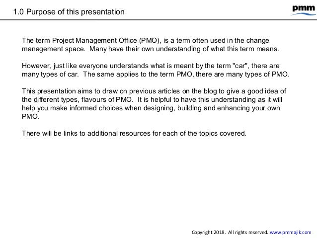 Types of project management office (PMO) Slide 3