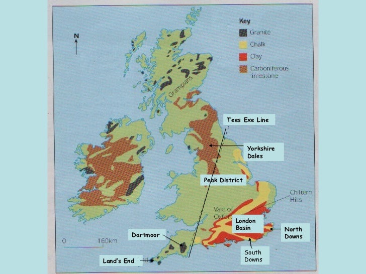 Types Of Rock And Their Distribution In The Uk