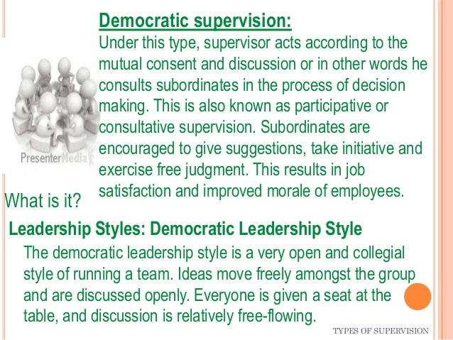styles of supervision Abstract an experiment based on a two-by-two factorial design was  conducted to test hypotheses involving the relationship of four supervisory styles  to.