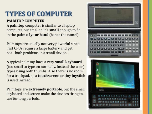 Types and components of computers