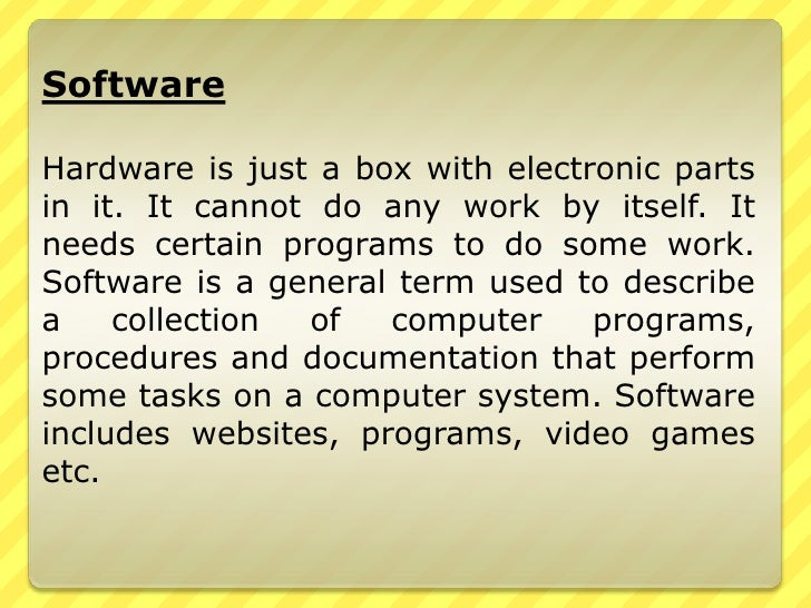 Types and components of computer system