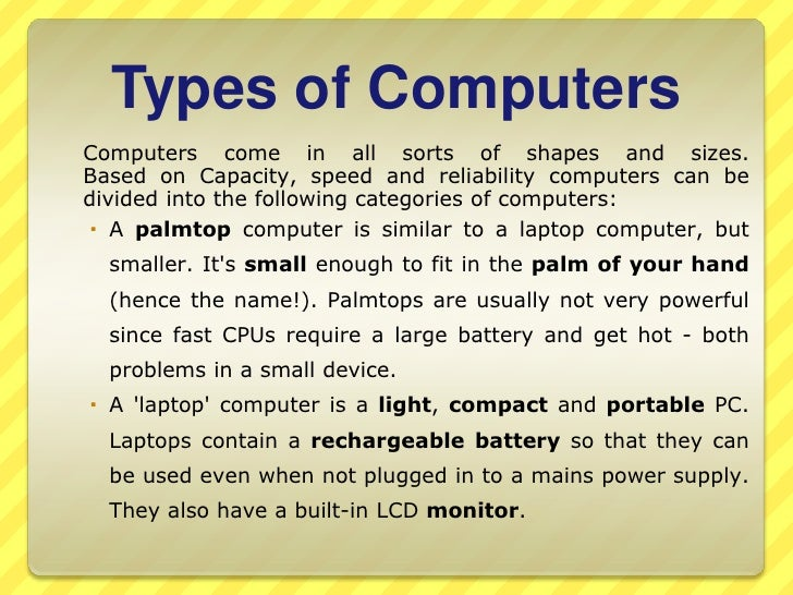 types of computer devices