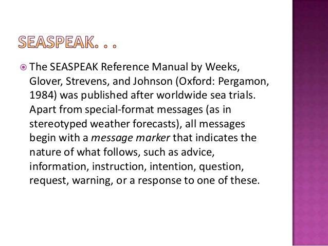 Seaspeak training manual