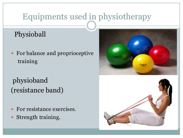 Equipments used in physiotherapy Leg/arm skates roller Training stairs Walking bars