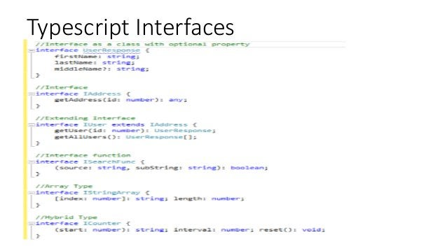 Typescript Interfaces