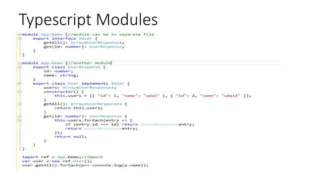Typescript Modules