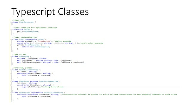 Typescript Classes