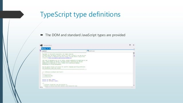 Type script = javascript (alomst) done right