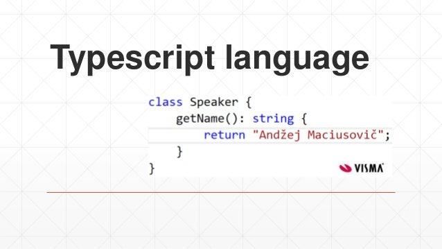 Typescript language