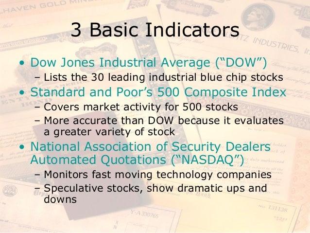 Dow jones 30 blue chip stocks : Oils meaning