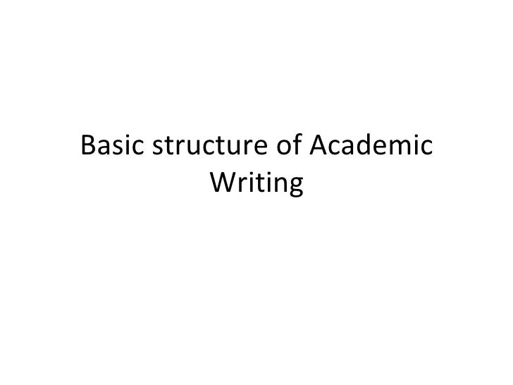 Four types of academic writing