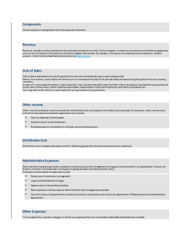 four types of financial statements essay The four general purpose financial statements include:  companies issue  different types of business financial statements for a variety of reasons at a variety  of.