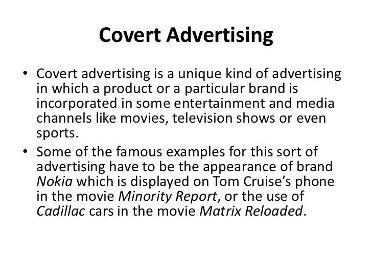 types of advertising with examples