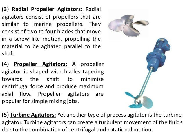 Types of agitators