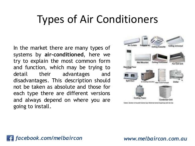 types of air conditioner. Black Bedroom Furniture Sets. Home Design Ideas