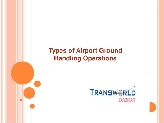 Types of Airport Ground Handling Operations