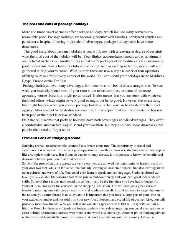 College reflective essay