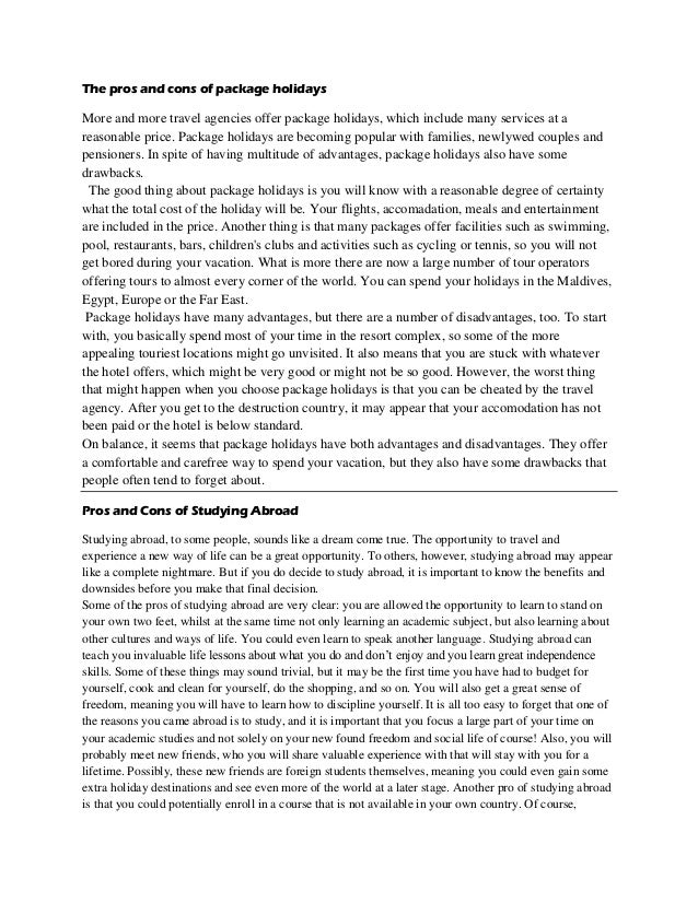 argumentative essay for studying abroad Study abroad- persuasive speech 4091 views 0 likes 4091 views 0 likes give private feedback collaborators message gabriel m baker follow gabriel m baker.