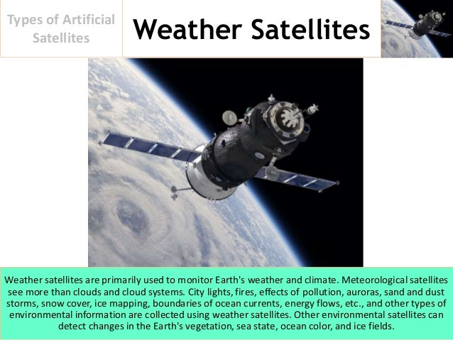 artificial satellites and their applications