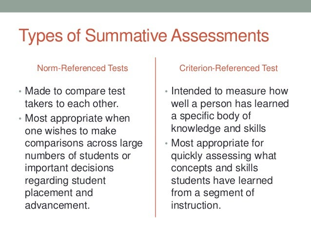 Ese  Types Of Assessment