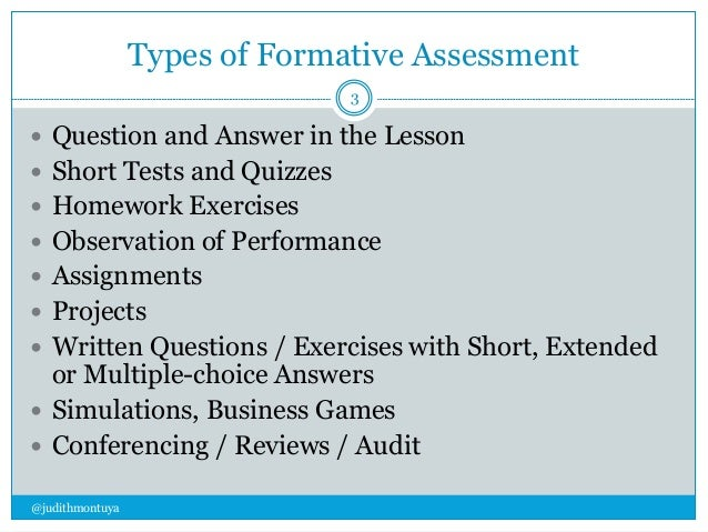 Types Of Formative Assessment ...