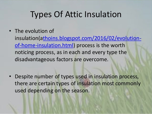 Types of attic insulation used in hot and cold climates