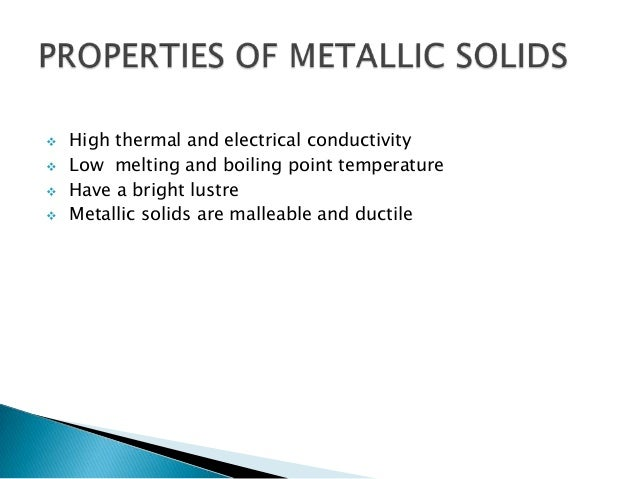 Types of bonding in solids