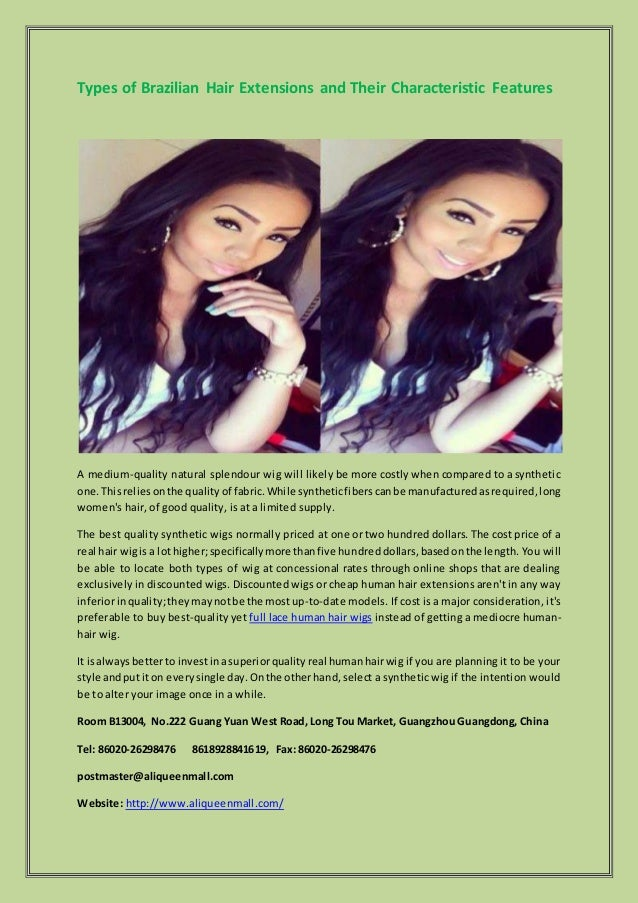 Types Of Brazilian Hair Extensions And Their Characteristic Features