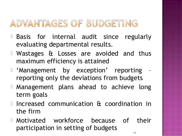  Identification of areas of efficiency & inefficiency  Acts as a yardstick for comparing actual performance  Establishe...