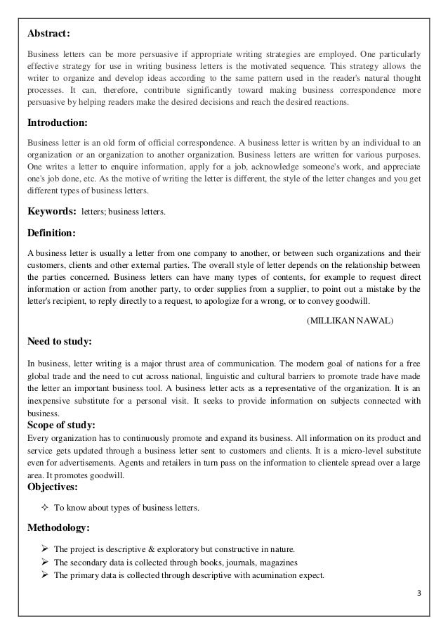 types of letter writing pdf