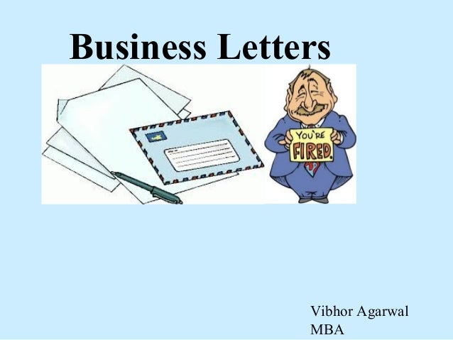 Business Letters Vibhor Agarwal MBA