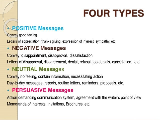 Types of business messages