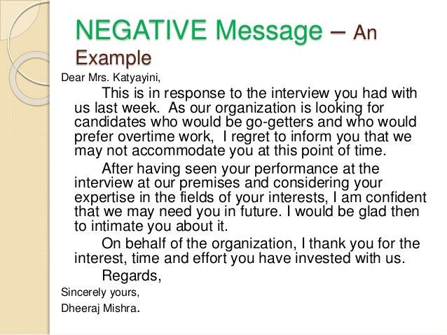 Business Writing: Positive Messages