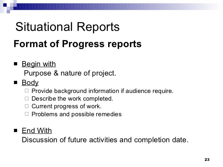 ... Interim Reports; 23.  How To Format A Business Report