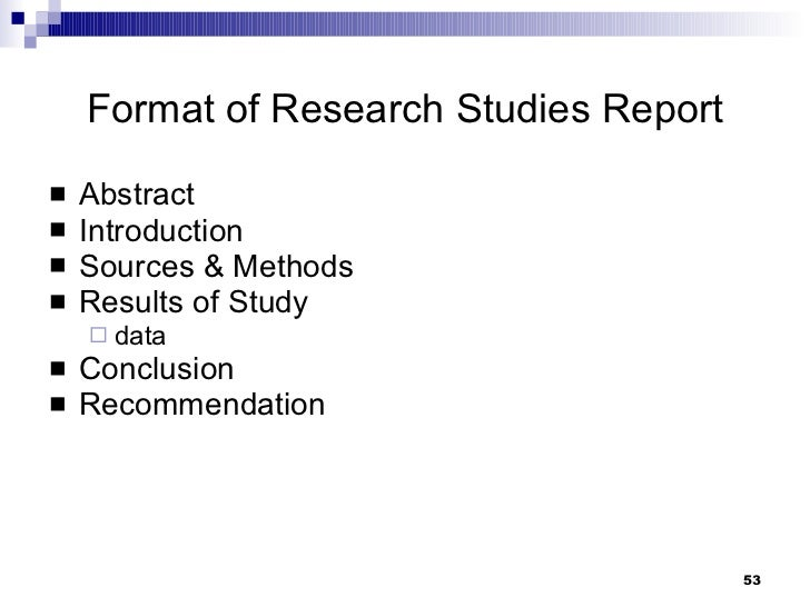 classifications of business report