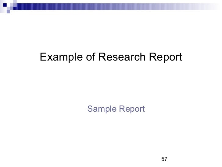 business reports examples