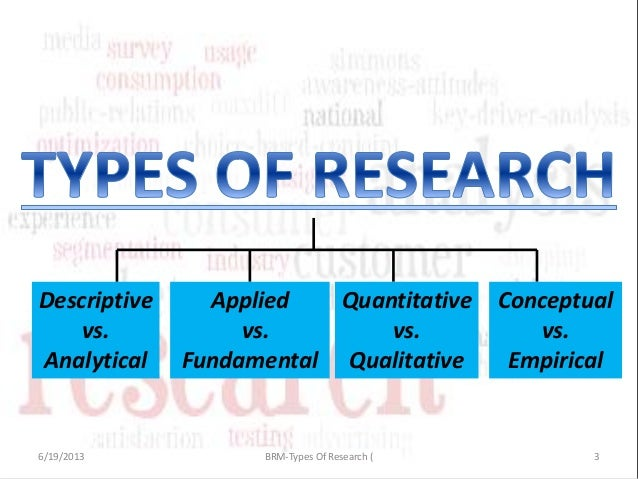 different types of business research 3 types of survey research most research can be divided into three different or whether your projects' end goal is to improve a business's.