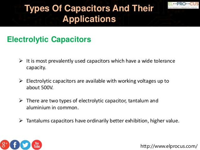 Types Of Capacitors And Their Applications