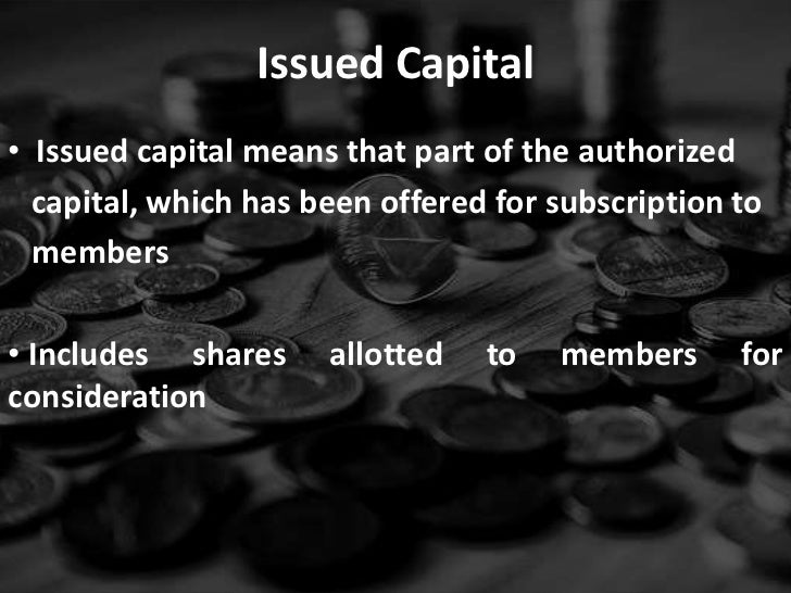 Authorized capital stock definition accounting