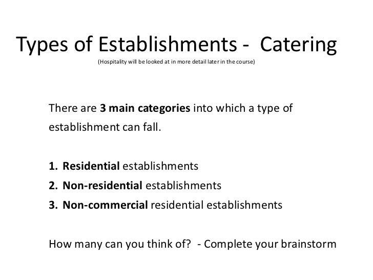 Commercial Food Service Establishments