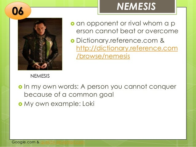 what does nemesis mean in literature