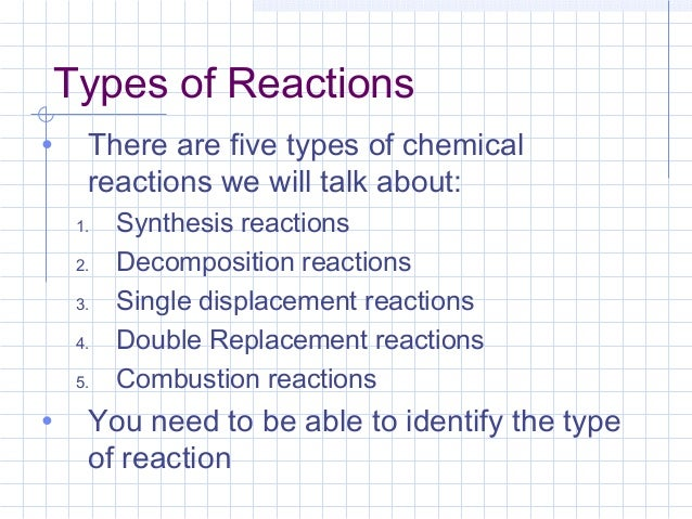 Types of chemical reactions – Decomposition and Synthesis Reactions Worksheet
