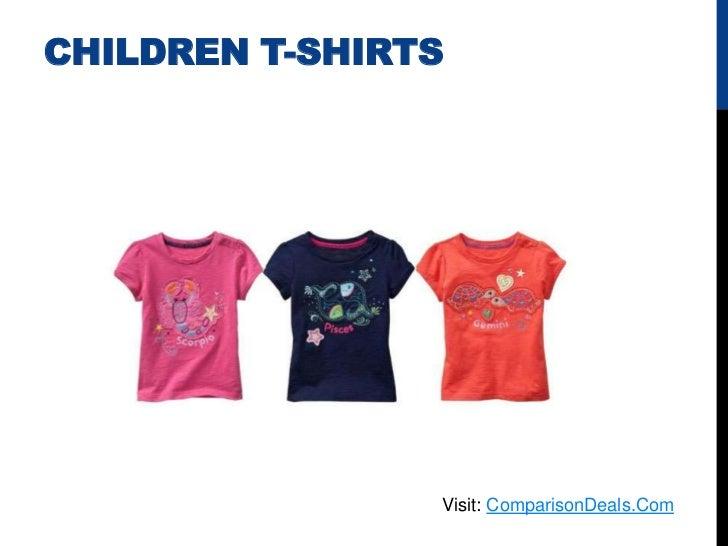 CHILDREN T-SHIRTS                Visit: ComparisonDeals.Com