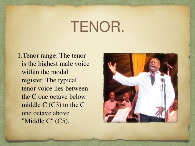 Types of choir and voices