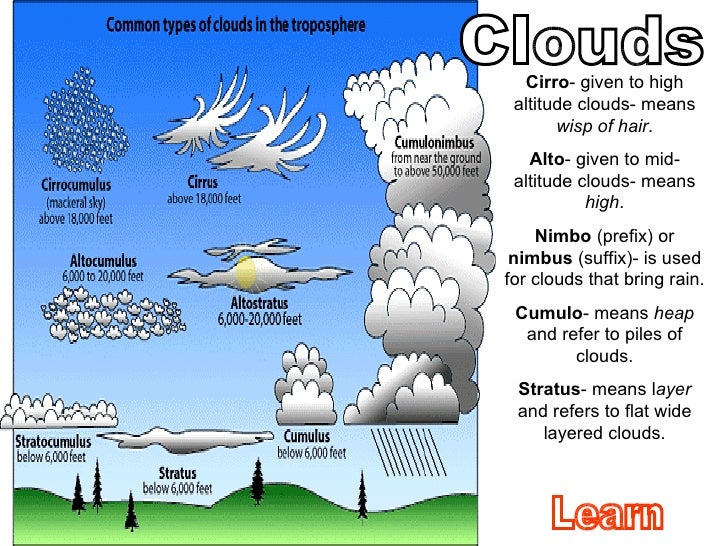 types of cloud rh slideshare net What Are the Different Types of Clouds different types of clouds diagram