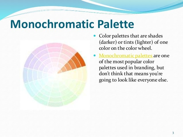 Color 2 3 Monochromatic Palette