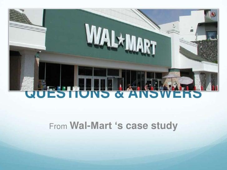 wal mart case study questions